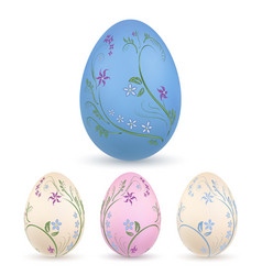 easter egg 3d icon pastel eggs set isolated vector image