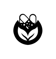 eco medicine nature logo design template vector image