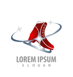 figure skating ice skates shoes concept design vector image