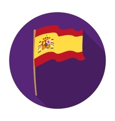 Flag of spain icon in flat style isolated on white vector