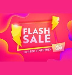flash sale discount poster online banner design vector image