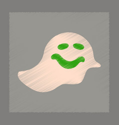 Flat shading style icon halloween ghost vector