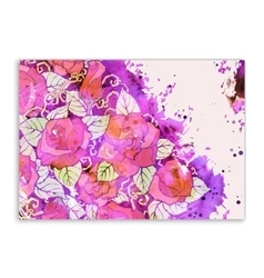 Floral card Hand drawn artwork with abstract vector image