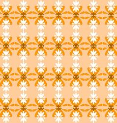 Floral pattern seamless orange vector image