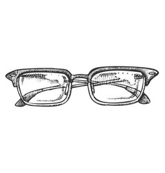 glasses corrective vision accessory ink vector image