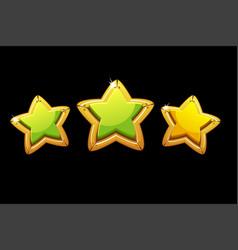 Golden stars rating game vector