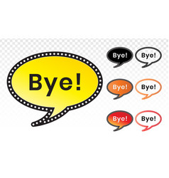 Goodbye line art icon for comic applications vector
