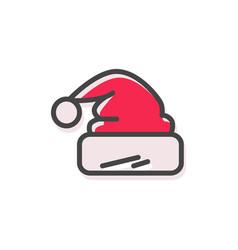 hat of santa claus christmas vector image vector image