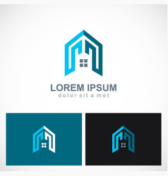 home building realty logo vector image