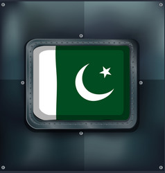 Icon design for flag of pakistan vector