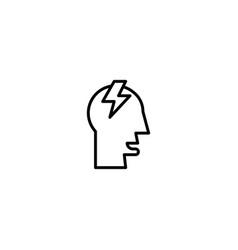 idea brainstorm icon vector image