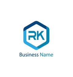 Initial letter rk logo template design vector