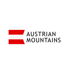 logotype template for tours to austrian alpine vector image