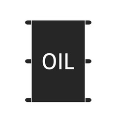 Machine oil in a tank petroleum products flat vector