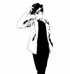 man in hat vector image
