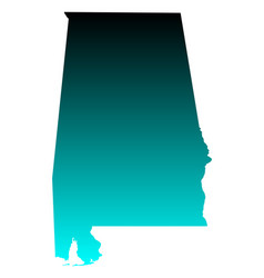 map of alabama vector image