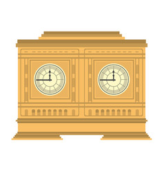 medieval clock object structure design vector image