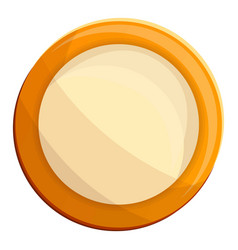 milk biscuit icon cartoon style vector image