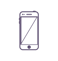 modern smartphone device with blank screen vector image