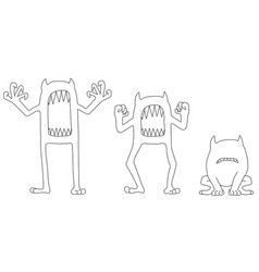 Monster scare poses vector