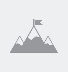 mountain scaling flat clean minimal and isolated vector image