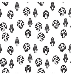 mushrooms seamless pattern vector image