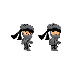 Ninja game sprites idle suitable for side vector