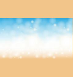 ocean beach bokeh horizontal abstract background vector image