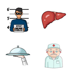 Offense cooking and other web icon in cartoon vector