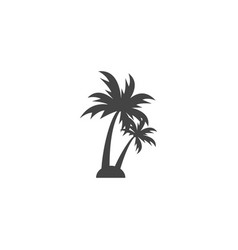 Palm tree silhouette graphic design element vector