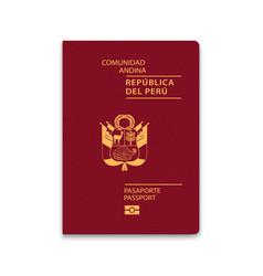 Passport peru citizen id template vector