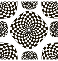 Pattern of black and white checkered squares vector image
