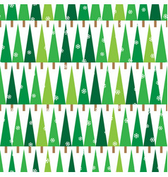 pattern with green spruces 2 vector image