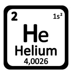 Periodic table element helium icon vector image