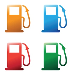 Petrol pumps vector