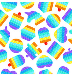 pop it seamless pattern antistress vector image