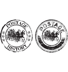 postage history vector image