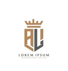 Premium al monogram two letters al elegant vector