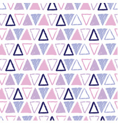 purple pastel tribal triangles repeat pattern vector image