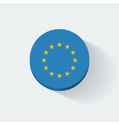 Round icon with flag of European Union vector