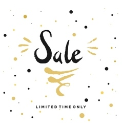 Sale poster hand draw brush in watercolor vector image
