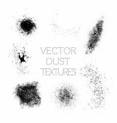 Set black paint ink grunge dirty splatter vector