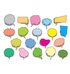 set color comic speech balloons vector image
