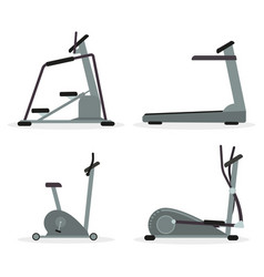 set of cardio machines vector image