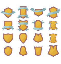 Set of shields logo vector