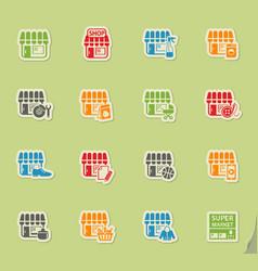 Shop icon set vector