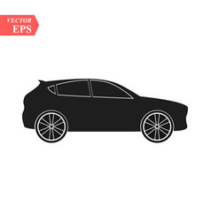 simple car icon flat hatchback symbol perfect vector image
