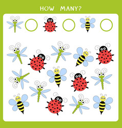 simple math game for kids vector image