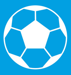 Soccer ball icon white vector