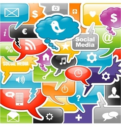 Social media background vector